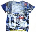 672...Xero...t-shirt *NEW YORK* 110/116blue