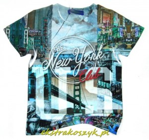 672...Xero...t-shirt *NEW YORK* 122/128sky